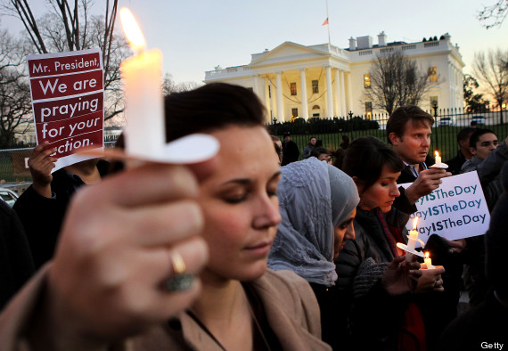 Candle Light Vigil Held At White House For Victims Of Elementary School Shooting