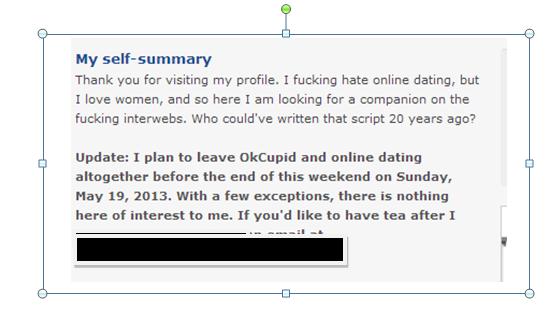 Online dating profile tips okcupid visitors