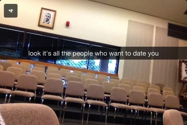 empty room snapchat