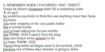 L tweet mistake
